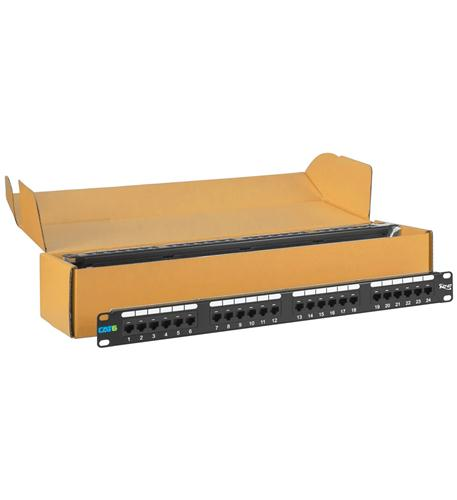 icc patch panel, cat 6, 24-port, 1 rms, 6 pk