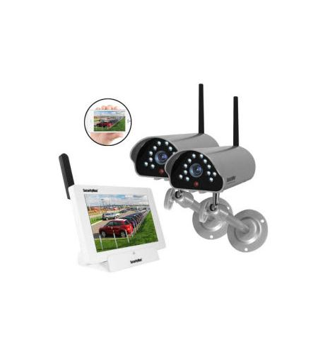securityman app wireless security system w/2 cameras