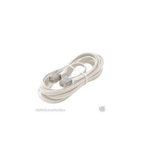 Steren 4c 7' white data modular cable