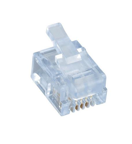 6P 4C Plug for Solid Wire Only