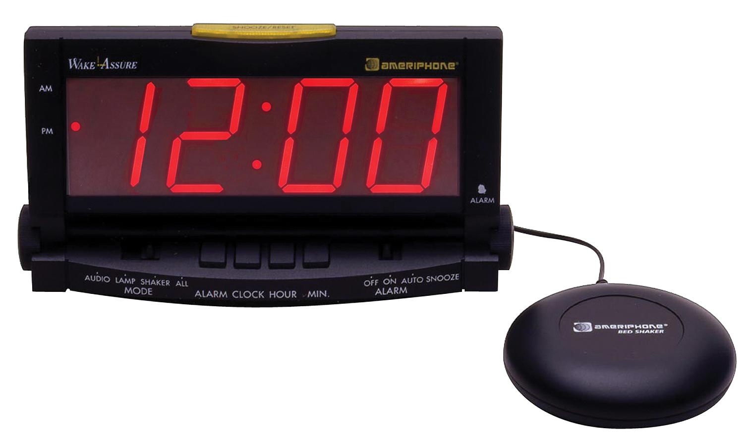"Clarity Wake Assure Alarm Clock 85Db Buzzer//Strong Bedshaker 1.8/"" Display Black"