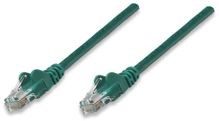 CAT5e BOOT PATCH CORD 10 FT GREEN