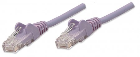 CAT5e BOOT PATCH CORD 10 FT PURPLE