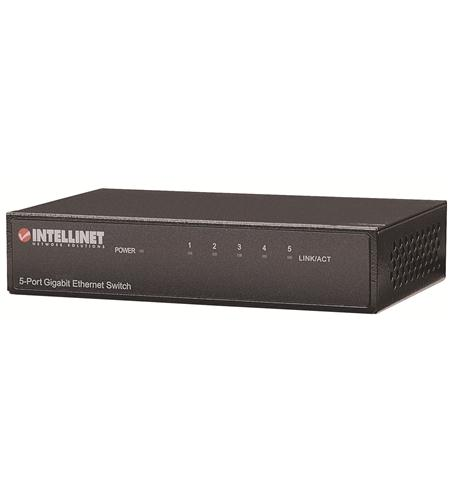 Intellinet Gigabit 5 Port Switch, Desk, Metal
