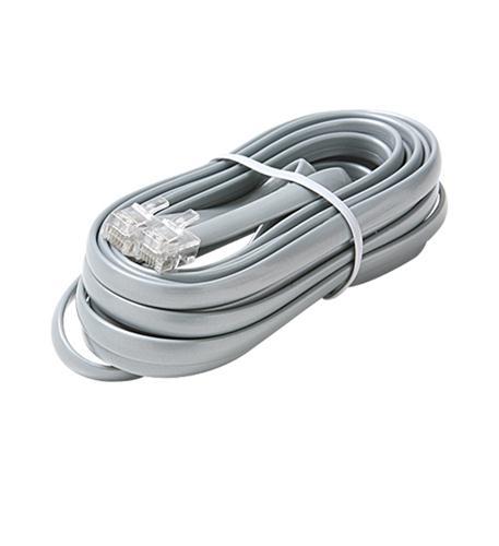 6C 7' Silver Data Modular Cable