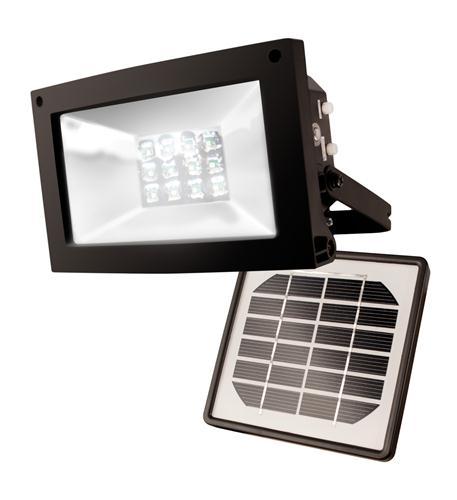 MAXSA Innovations 12 LED Solar-Powered Floodlight