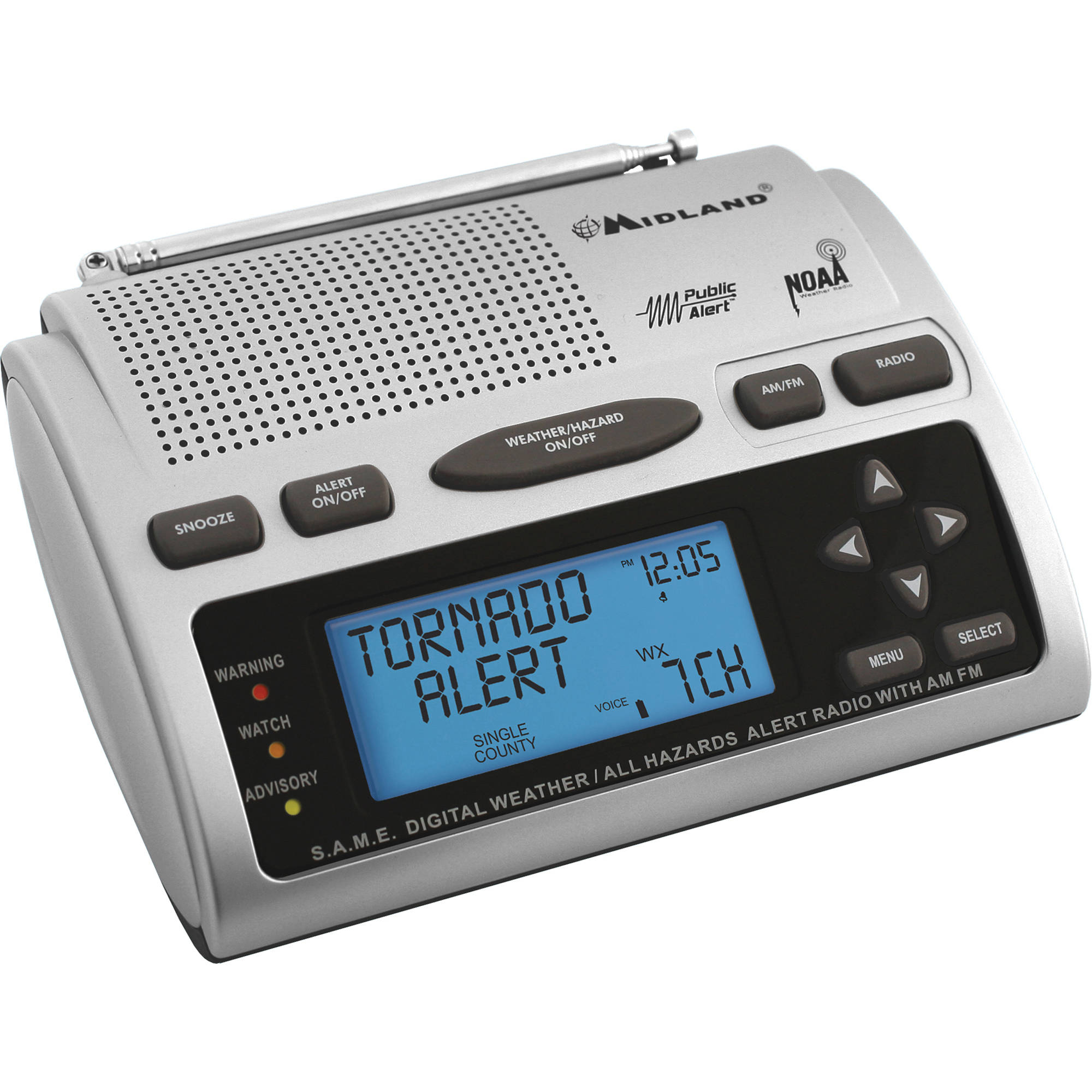 Midland wr-300, noaa weather alert radio, excellent condition.