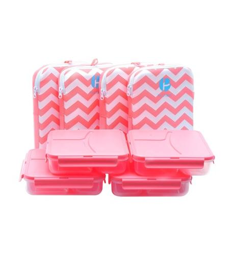 Miscellaneous Brands Chevron Lunch Containers in a pack of 4