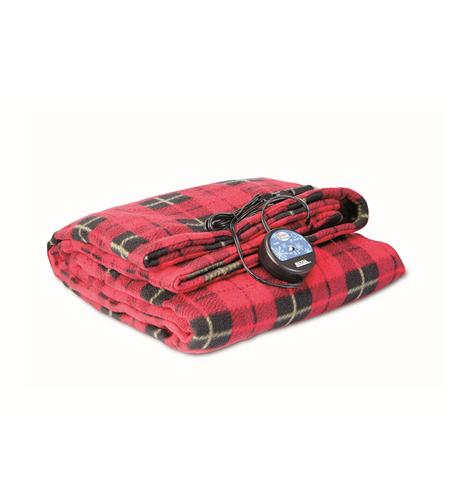 MAXSA Innovations Comfy Cruise 12V Heated Plaid Blanket