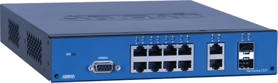 Netvanta 1531 12-port Gigabit Switch