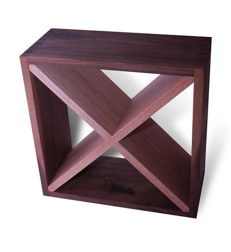 Recherche Furnishings Walnut Wine Cube