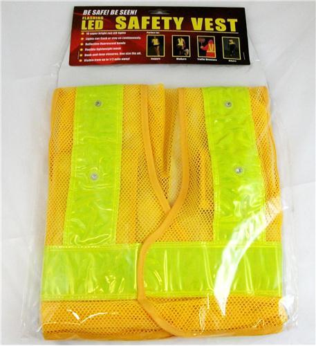 MAXSA Innovations Reflective Safety Vest with 16 LED Light