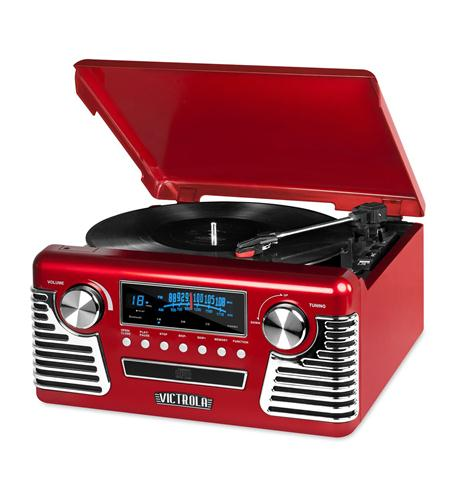 Innovative Technology Bluetooth Stereo Turntable with CD