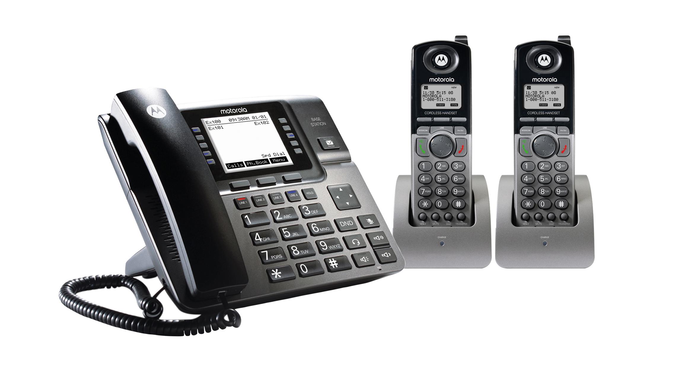 Motorola 4-Line Unison Base w/(2)ML1200