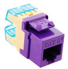 MODULE, CAT 5e, HD, PURPLE