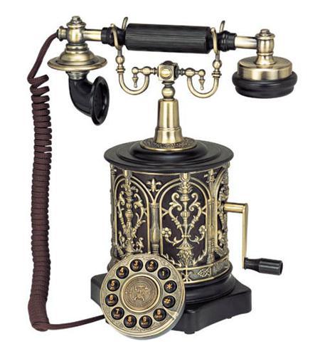 Paramount 1893 Biscuit Barrel Decor Phone Black