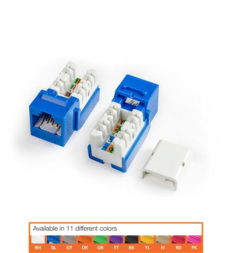 KJNE-8P8C-C6-90-BL CAT6 JACK BLUE