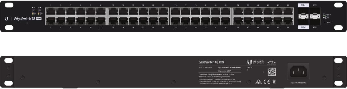 Ubiquiti Edgeswitch 48,500W,70gbps,2 SFP(+) ports